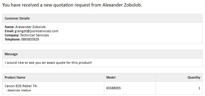 quotes eshop documentation