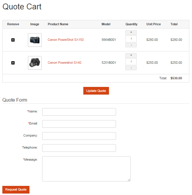 Quotes EShop Documentation - How to send quotation email to customer